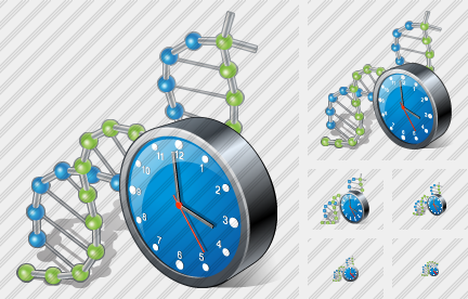 Icone Dna Clock