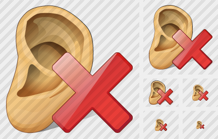 Ear Delete Icon