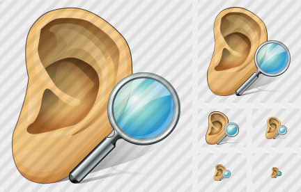 Ear Search Icon