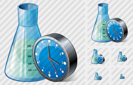Icone Flask Clock