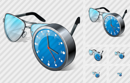 Glasses Clock Icon