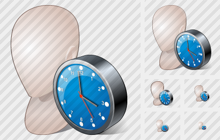 Head Clock Icon