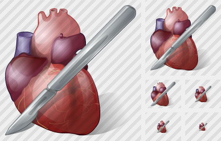 Icone Heart And Scalpel