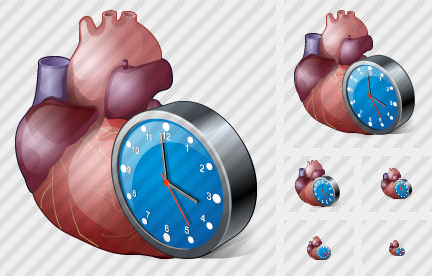 Icone Heart Clock