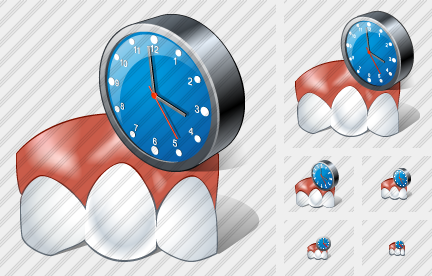 Normal Tooth Clock Icon
