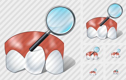 Rotated Tooth Search 2 Icon