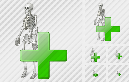 Icone Skeleton Add