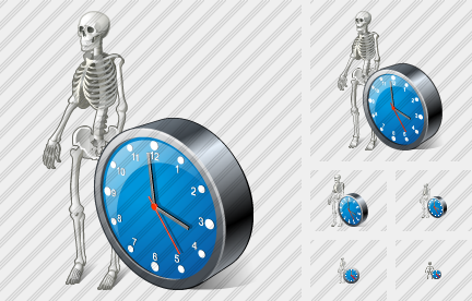 Skeleton Clock Icon