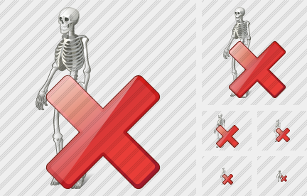 Skeleton Delete Icon