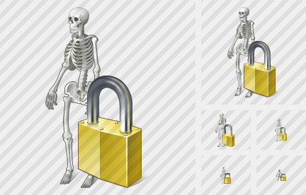Icone Skeleton Locked