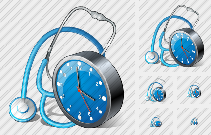 Icone Stethoscope Clock