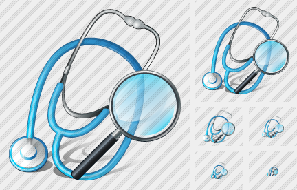 Stethoscope Search 2 Icon