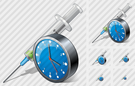 Syringe Clock Icon