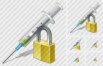 Syringe Locked Icon