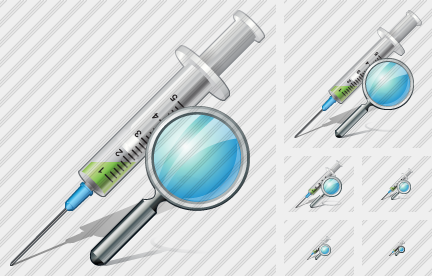 Syringe Search Icon