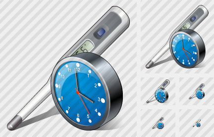 Thermometer Clock Icon