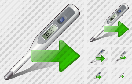 Icone Thermometer Export
