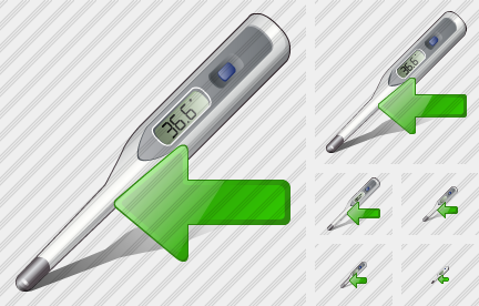 Icone Thermometer Import