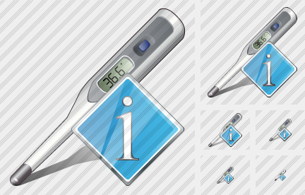 Icone Thermometer Info