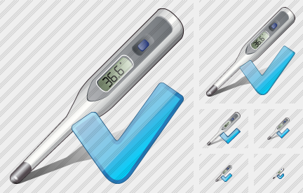 Thermometer Ok Icon