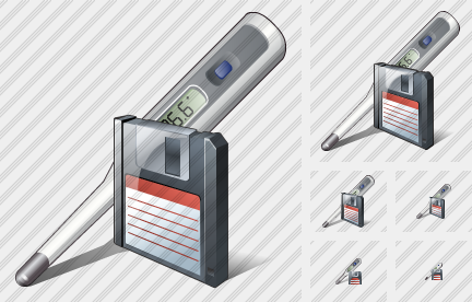 Thermometer Save Icon