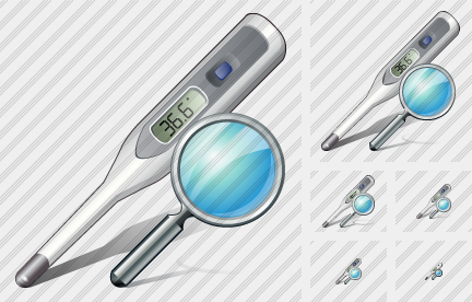 Thermometer Search Icon