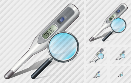 Thermometer Search 2 Icon