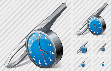 Tweezers Clock Icon