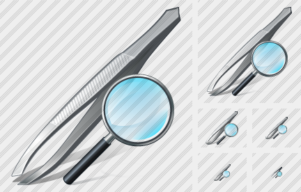 Tweezers Search 2 Icon