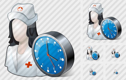 Icone User Nurse Clock