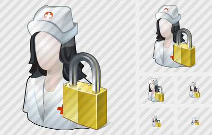 User Nurse Locked Icon