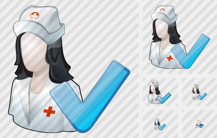 User Nurse Ok Icon