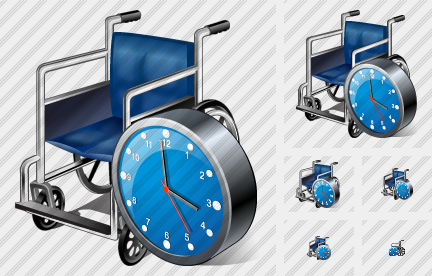 Wheel Chair Clock Icon