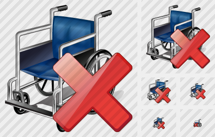 Wheel Chair Delete Icon