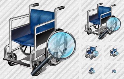 Wheel Chair Search 2 Icon