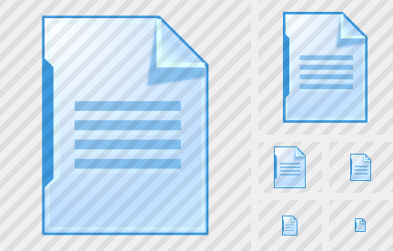 Иконка Документ - Иконки XP Artistic - Lokas Software