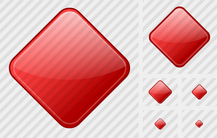 Rhomb Red Icon