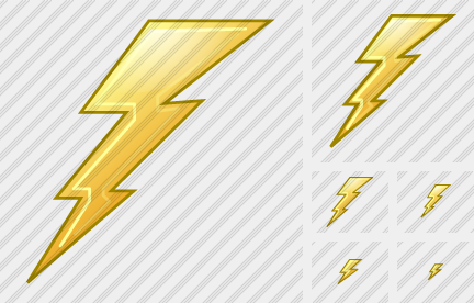 Thunderbolt Icon Xp Artistic Professional Stock Icon And